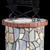 Каменен кладенец с неправилен камък и червени тухли